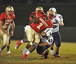 Lafayette High's Jeremy Liggins (1) runs in the first quarter vs. Lewisburg in Homecoming football action in Oxford, Miss. on Friday, September 30, 2011. Lafayette High won 42-0 for the team's 23rd straight win.