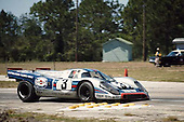Winning Porsche 917K of Vic Elford/Gerard Larousse in 1971 Sebring 12-hour race; <br /> PLEASE CREDIT Photo by Pete Lyons / www.petelyons.com