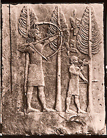 "EXCLUSIVE (b/w photo) Relief depicting the hunting of birds in the woods, from the Palace of Sargon II at Khorsabad, Iraq, Middle East. N° 41 Louvre Museum. Brought by V. Place in 1855. Picture by Victor Place...Additional info :..Khorsabad - Palais de Sargon II - (N.A. pl. 48-2 ""Scène de Chasse"") - Voir ED Pottier - Antiquités Assyriennes P. 82-83 - pl. 19 - Scène de chasse aux oiseaux - Découverte EP de Longeville 1850. Rapporté par V. Place 1855. N° 41 Musée du Louvre. Cliché V. Place"