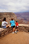 AZ, Arizona, Young mother and children, family, no model release, at South Rim of Grand Canyon National Park, Arizona.Photo Copyright: Lee Foster, lee@fostertravel.com, www.fostertravel.com, (510) 549-2202.azgran216