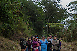 November 20, 2014<br /> A group of Mayan women of Santa Cruz de Barillas (Guatemala) prevents that the machines of the spanish company Ecoener enter to their territory. They have cut a path and has installed a resistance camp 24 hours, on november 20, 2014. The arrival of foreign companies to Latin America has provoked abuses of the rights of indigenous people and repression of their defense of the environment. In Santa Cruz de Barillas, Guatemala, the project of the Spanish hydroelectric Ecoener has caused murders, violent riots, the declaration of a state of siege by the army and the imprisonment of a dozen activists opposed to the project. They defend their territory and their river, called Cambalam. The river has for the Mayan people a special meaning and it is linked with their ancestors. A group of Mayan Indians, mostly women, has cut a path and has installed a resistance camp to prevent the enter of the company&rsquo;s machines. The prosecution has also provoked that some ecologists, with orders for their arrest, have been hidden for months in the Guatemalan jungle.<br /> <br /> In Coban, place located also in Guatemala, the hydroelectric Renace has been installed with threats to the population and false promises of development for the area. The company has also forbidden the access to the river for thousands of people and has no respected the close relationship of the Maya Indians with environment. Renace is a Guatemaltecan company but has given the contract of the  construction of the hydroelectric to the spanish company Cobra. As in Santa Cruz de Barillas, the project has divided the population and has caused riots. The project has very close families that live in extrem poverty. They are people that leave close to the hydroelectric but they don&rsquo; t have electricity at home. &copy;Calamar2/ Pedro ARMESTRE