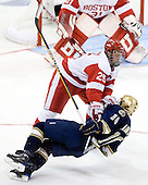 Colby Cohen (BU - 25), Kyle Palmieri (Notre Dame - 10) - The University of Notre Dame Fighting Irish defeated the Boston University Terriers 3-0 on Tuesday, October 20, 2009, at Agganis Arena in Boston, Massachusetts.