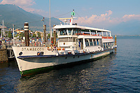 Passenger ferry on Lake Maggiore. Locarno, Ticino Switzerland