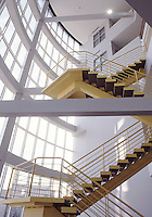 Stair case at University of Akron Polymer building