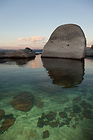 """Boulders at Lake Tahoe 10"" - These boulders were photographed in the early morning near Speedboat Beach, Lake Tahoe."