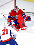 10 February 2010: Montreal Canadiens' goaltender Carey Price gives up a third period goal to Washington Capitals center Brooks Laich at the Bell Centre in Montreal, Quebec, Canada. The Canadiens defeated the Capitals 6-5 in sudden death overtime, ending Washington's team-record winning streak at 14 games. Mandatory Credit: Ed Wolfstein Photo