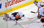 3 February 2007: New York Islanders defenseman Radek Martinek of the Czech Republic lies motionless on the ice after suffering an injury in the first period at the Bell Centre in Montreal, Canada. The Islanders defeated the Canadiens 4-2.Mandatory Photo Credit: Ed Wolfstein Photo *** Editorial Sales through Icon Sports Media *** www.iconsportsmedia.com