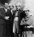 Iraq 196?.From riht to left: Mustafa Bag, Saber Barzani, Saleh Mahmoud and Franso Hariri.Irak 196?.De droite a gauche, Mustafa bag, Saber Barzani, Saleh Mahmoud et Franso Hariri