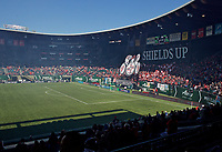 Portland, OR - Saturday April 15, 2017:  Tifo during a regular season National Women's Soccer League (NWSL) match between the Portland Thorns FC and the Orlando Pride at Providence Park.