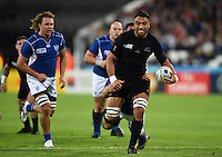 Victor Vito of New Zealand goes on the attack. Rugby World Cup Pool C match between New Zealand and Namibia on September 24, 2015 at The Stadium, Queen Elizabeth Olympic Park in London, England. Photo by: Patrick Khachfe / Onside Images