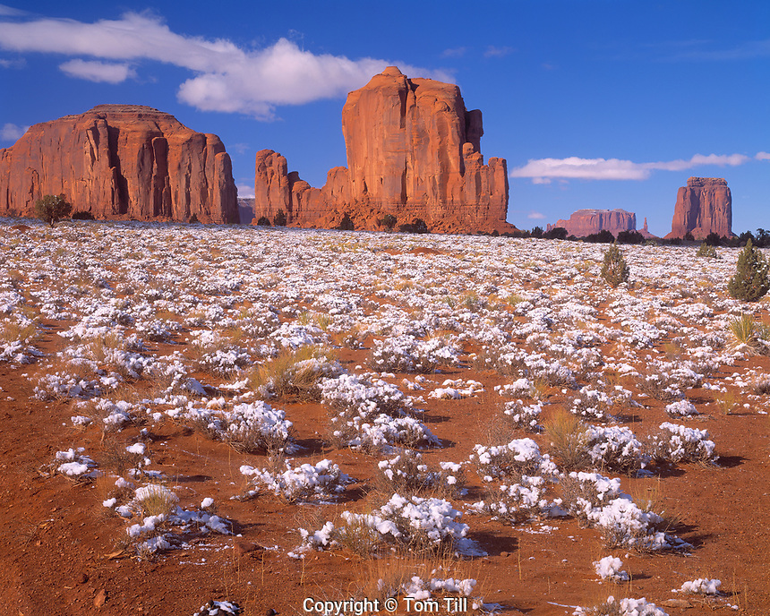 Disappearing Snow, Monument Valley Tribal Park, Arizona  Navajo Reservation
