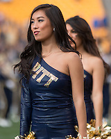 A member of the Pitt dance team performs. The Miami Hurricanes football team defeated the Pitt Panthers 29-24 on  Friday, November 27, 2015 at Heinz Field, Pittsburgh, Pennsylvania.