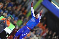 SCHAATSEN: HEERENVEEN: IJsstadion Thialf, 08-02-15, World Cup, Podium 500 Men Division A, Pavel Kulizhnikov (RUS), ©foto Martin de Jong