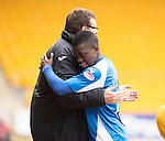 St Johnstone v Motherwell.....19.05.13      SPL.Nigel Hasselbaink celebrates with Tommy Wright.Picture by Graeme Hart..Copyright Perthshire Picture Agency.Tel: 01738 623350  Mobile: 07990 594431