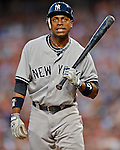 15 June 2012: New York Yankees center fielder Curtis Granderson in action against the Washington Nationals at Nationals Park in Washington, DC. The Yankees defeated the Nationals 7-2 in the first game of their 3-game series. Mandatory Credit: Ed Wolfstein Photo