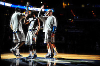 The Hoyas introduced their players prior to tip-off against Memphis at the Verizon Center in Washington, D.C. on Thursday, December 22, 2011. Alan P. Santos/DC Sports Box