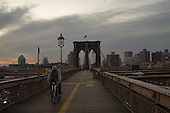 The Brooklyn Bridge, here without the crowds which fill the walkway on weekends, isn't for sale, but it's as good as it gets for old New York flavor, gritty, run down, badly in need of a make-over, but unique.  Sometimes you can even hear it creak.