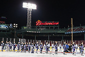 - The Bentley University Falcons defeated the College of the Holy Cross Crusaders 3-2 on Saturday, December 28, 2013, at Fenway Park in Boston, Massachusetts.