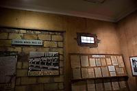 Roma 28 Maggio 2010.Museo Storico della Liberazione .Via Tasso 155,  era il Comando SS e Gestapo, della polizia Nazista  durante l'occupazione da parte delle  Germania durante la Seconda Guerra Mondiale..Le celle dove venivano tenuti i combattenti della resistenza romana..Rome, May 28, 2010.Historical Museum of the Liberation.Via Tasso 155, was the SS and Gestapo Command, the police during the Nazi occupation by Germany during the Second World War..The cells were kept where resistance fighters Roman