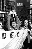 Roma 1983.Il movimento femminista manifesta per la ricorrenza del 8 Marzo