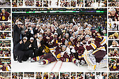 University of Minnesota Duluth 2011 National Champions collage featuring all of the players and as many staff as possible in the border images.