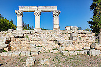Temple E in Ancient Corinth, Greece