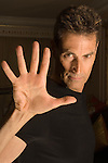Uri Geller at home Berkshire England 2008.