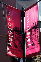 Banners on a post in Yaletown, Vancouver, British Columbia, Canada