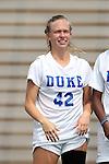 01 September 2013: Duke's Kaitlyn Kerr. The Duke University Blue Devils played the University of New Mexico Lobos at Fetzer Field in Chapel Hill, NC in a 2013 NCAA Division I Women's Soccer match. Duke won the game 1-0.