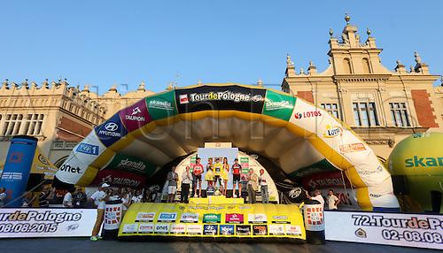 08.08.2015, Krakow, Poland. Tour of Poland Cycling tour, stage 7. Time trials, Krakow.  Bart de Clercq (BEL), Jon Izaguirre (ESP), Ben Hermans (BEL)