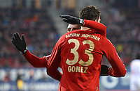 FUSSBALL   1. BUNDESLIGA  SAISON 2012/2013   16. Spieltag FC Augsburg - FC Bayern Muenchen         08.12.2012 Franck Ribery und Mario Gomez  (v.li., FC Bayern Muenchen)