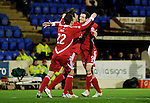 St Johnstone v Aberdeen...13.12.11   SPL .Scott Vernon celebrates his goal.Picture by Graeme Hart..Copyright Perthshire Picture Agency.Tel: 01738 623350  Mobile: 07990 594431