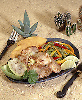 Baked Rattlesnake with Napale Prickly Pear and Cactus Paddles
