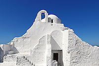 Paraportiani is the most impressive church of Mykonos, Greece
