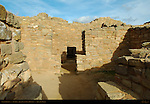 T-shaped Doorway, West Ruin Anasazi Hisatsinom Chacoan Complex, Aztec Ruins National Monument, Aztec, New Mexico