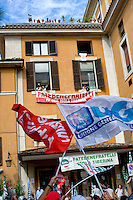 Roma, 23 Settembre  2014<br /> Manifestazione dei lavoratori dell&rsquo;Ospedale, S.Giovanni Calibita-Fatebenefratelli all&rsquo;Isola Tiberina,contro il taglio del salario del 20%, in tre anni  firmato dall&rsquo;azienda, con i sindacati dei medici. <br /> Rome, 23 September 2014 <br /> Workers' protest Fatebenefratelli Hospital at  Isola Tiberina, against the pay cut of 20% in three years signed by the company  with the unions of doctors.