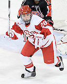 Louise Warren (BU - 28) - The Northeastern University Huskies tied Boston University Terriers 3-3 in the 2011 Beanpot consolation game on Tuesday, February 15, 2011, at Conte Forum in Chestnut Hill, Massachusetts.