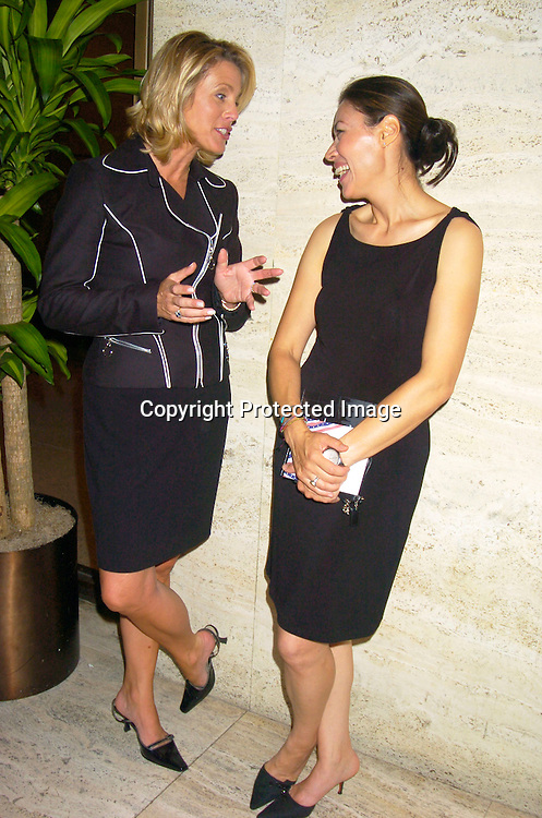 Deborah Norville and Ann Curry ..at the Newsweek Party for the Republican Convention ..on August 30, 2004 at The Four Seasons Restaurant...Photo by Robin Platzer, Twin Images