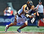 24 August 2008: Rochester Rattlers' Midfielder Alex Smith controls a faceoff against the Denver Outlaws during the Championship Game of the Major League Lacrosse Championship Weekend at Harvard Stadium in Boston, MA. The Rattles defeated the Outlaws 16-6 to take the league honor for the 2008 season...Mandatory Photo Credit: Ed Wolfstein Photo
