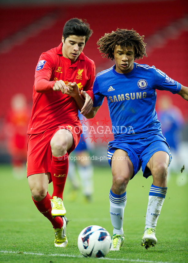 Liverpool S Joao Carlos Teixeira In Action Against Chelsea S Nathan
