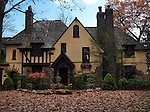 Beautiful large family house in fall. Toronto, Ontario, Canada.
