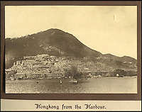 BNPS.co.uk (01202 558833)<br /> Pic: Tooveys/BNPS<br /> <br /> In the early 1900's Hong Kong island was very low rise compared to today - viewed across the harbour from Kowloon..<br /> <br /> A fascinating set of early images of Hong Kong long before it became the metropolis it is today have surfaced. <br /> <br /> The black and white photographs dating to the early 20th century depict a region unrecognisable to what stands today. <br /> <br /> There are several shots of natives walking down packed low-rise streets while a number of others picture primitive sailing boats. <br /> <br /> The collection was compiled by adventurous British photographer Denis H. Hazell, who took each of the 26 postcard-like photos.