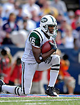 30 September 2007: New York Jets wide receiver Brad Smith takes a knee in the end zone against the Buffalo Bills at Ralph Wilson Stadium in Orchard Park, NY. The Bills defeated the Jets 17-14 handing the Jets their third loss of the season...Mandatory Photo Credit: Ed Wolfstein Photo
