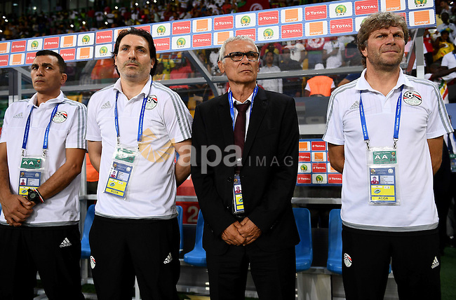 Egypt's Argentinian coach Hector Raul Cuper attends the 2017 Africa Cup of Nations group D football match between Mali and Egypt in Port-Gentil on January 17, 2017. Photo by Stranger