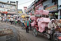 Spice market, Old Delhi, Northern India, India