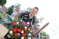 FIERLJEPPEN: IJLST: 06-08-2016, FK Fierleppen Jeugd, Wisse Broekstra (Jongens 11en 12 jaar) winnaar met 11.02m, ©foto Martin de Jong