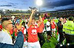 Santa Fe venció como local 1-0 a Medellín (1-0 el global) y se coronó campeón de la Superliga Águila 2017.