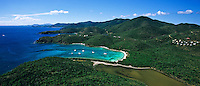 Aerial view of Salt Pond Bay<br />