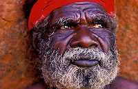 Aboriginal Elder at Ayers Rock, Central Australia