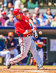 7 March 2013: Washington Nationals catcher Kurt Suzuki in action during a Spring Training game against the Houston Astros at Osceola County Stadium in Kissimmee, Florida. The Astros defeated the Nationals 4-2 in Grapefruit League play. Mandatory Credit: Ed Wolfstein Photo *** RAW (NEF) Image File Available ***